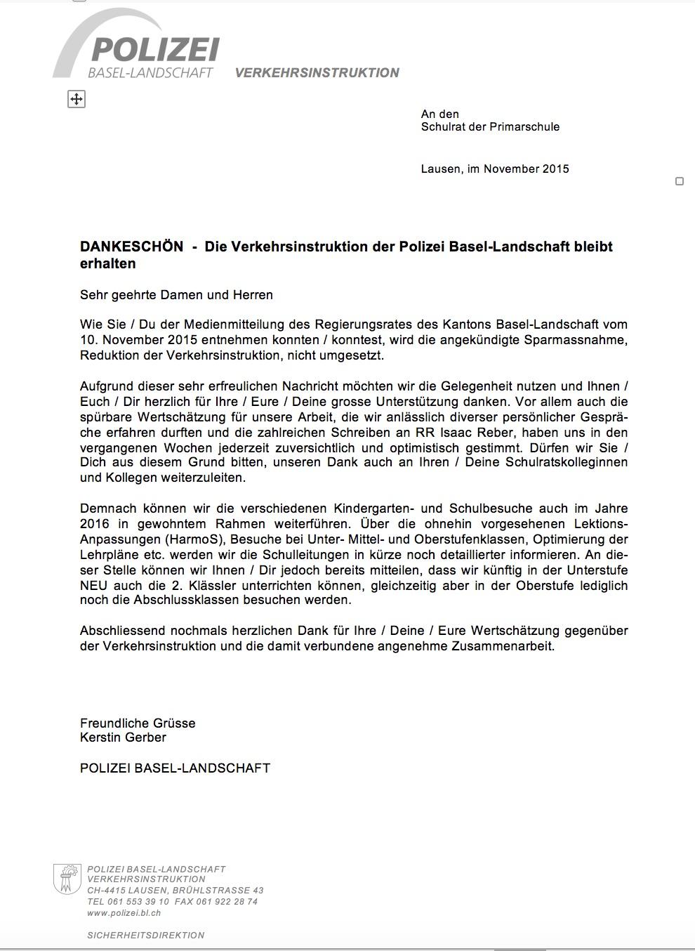 DV Dankeschön-Brief